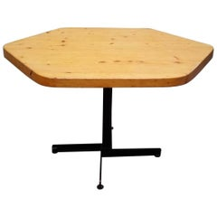 Charlotte Perriand's Les Arcs Hexagonal Table, circa 60