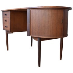 Midcentury Teak Kidney Shaped Desk, 1950s