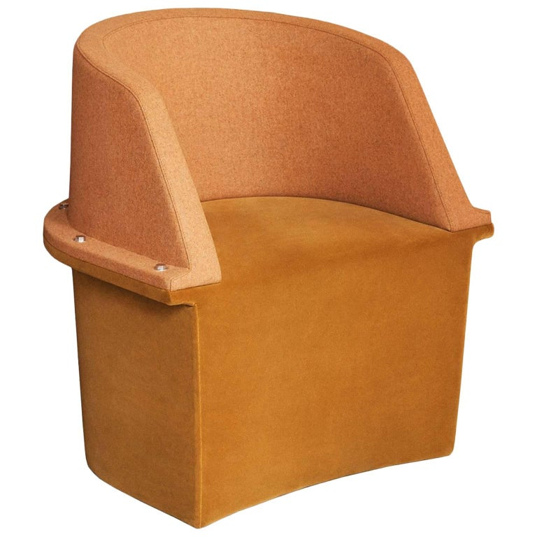 """""""Assembly"""" Upholstered Armchair with Steel Frame and Bolts by Moroso for Diesel"""