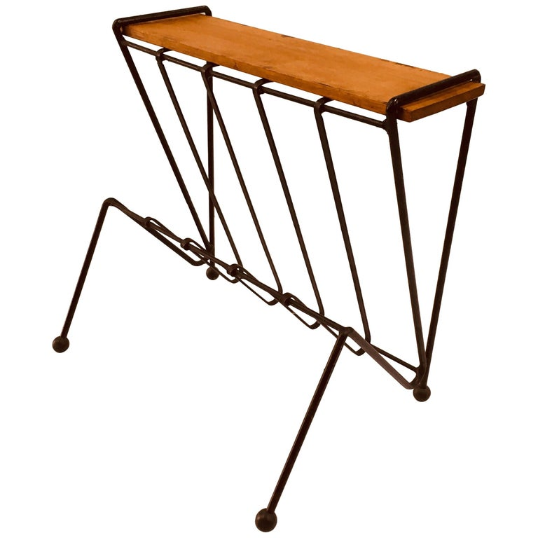 Australian Midcentury Side Table with Magazine Rack, circa 1950s