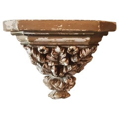 Late 19th Century Plaster Wall Console or Bracket