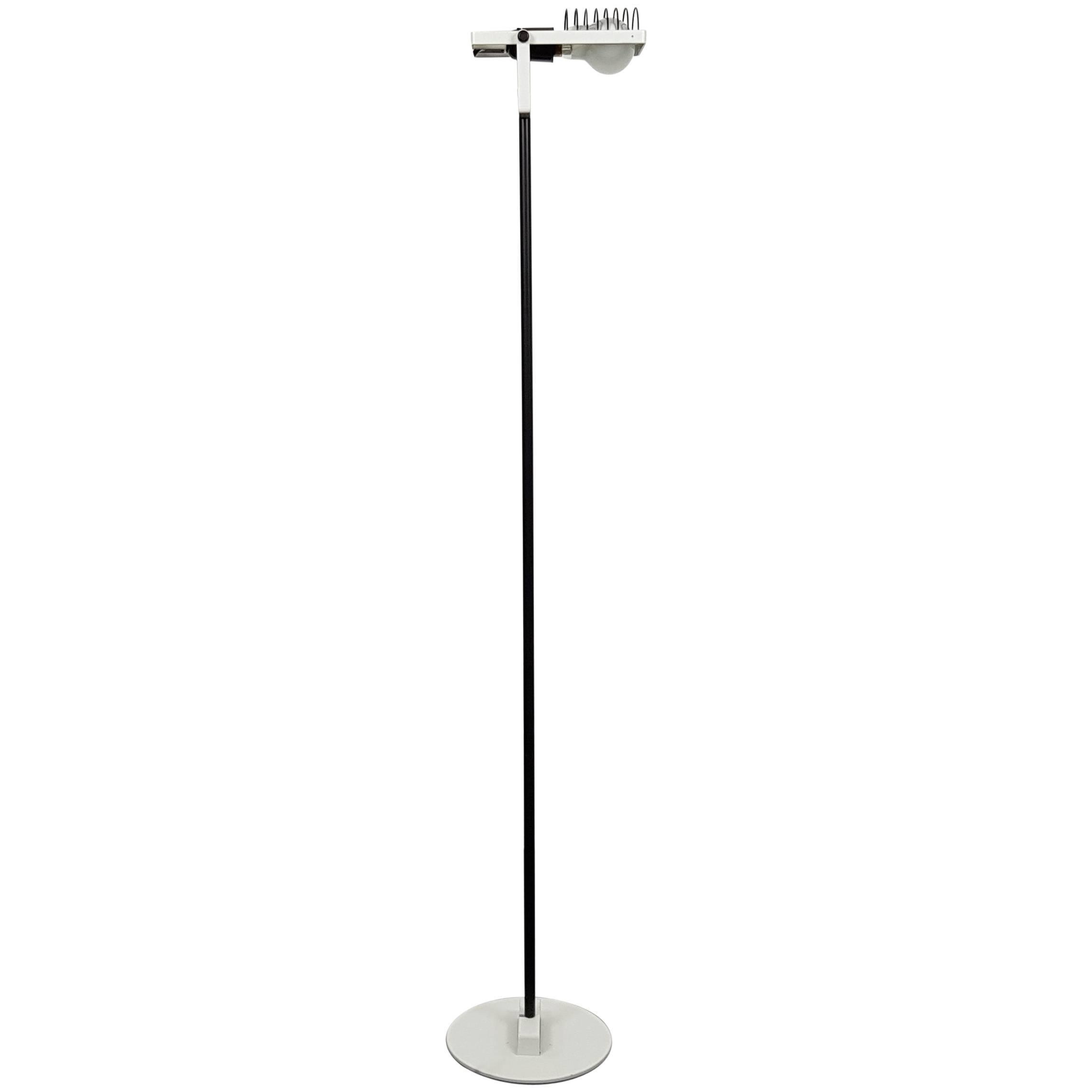 Rare First Edition Ernesto Gismondi Sintesi Terra White Lacquered Floor Lamp