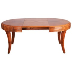 Unique Large Art Deco Extendable Dining Table