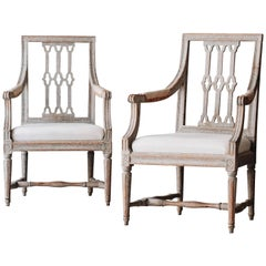 Pair of Swedish Gustavian Armchairs