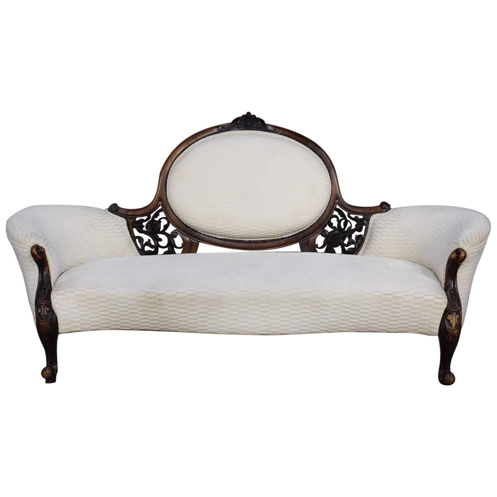 victorian antique chaise longue love seat sofa 18th 19th century rh 1stdibs com  antique chaise longue sofa bed