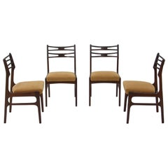 Set of Four Johannes Andersen Model 101 Teak Dining Chairs, 1950s