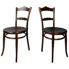 Pair of Bentwood Thonet Chairs from the Beginning of the 20th Century