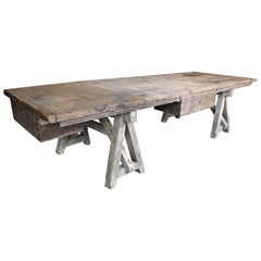 19th Century Spanish Rustic Dining or Working Table