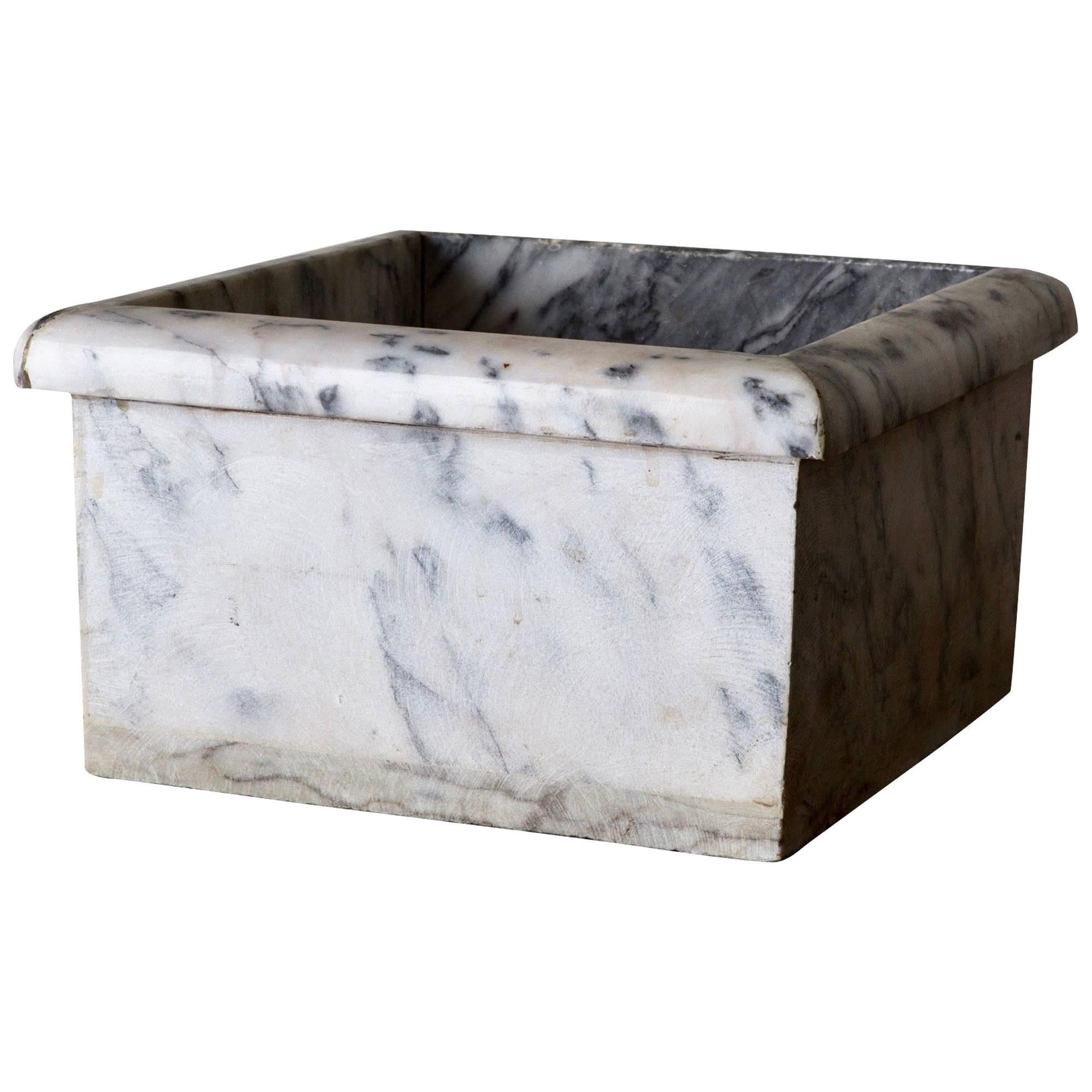 Container French Marble Gray and White, 20th Century, France