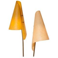 1960s, Fiberglass Shades Floor Lamp