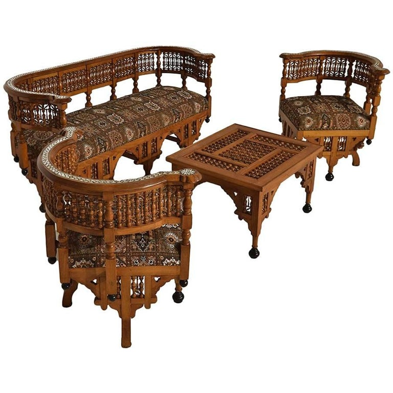 Moorish Moroccan Early 20th Century Lounge Set For Sale At 1stdibs