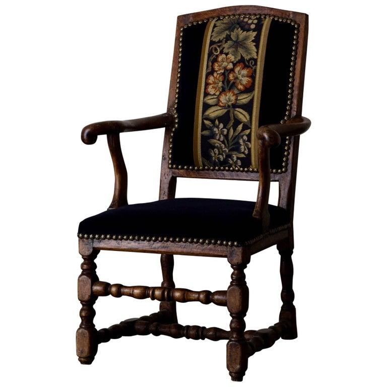 Armchair Swedish Baroque Oak Sweden For Sale