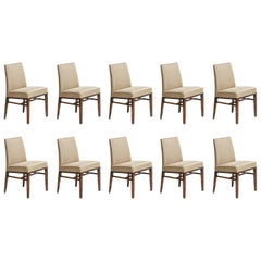 Set of Ten Dining Room Chairs by Edward Wormley for Dunbar, USA, 1950s