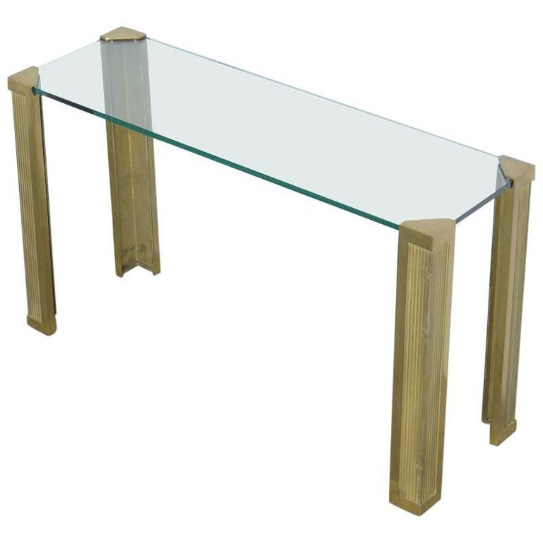 Brass Console Table by Peter Ghyczy