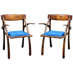 Rare Pair of Wishbone Chairs by Arthur Espenet Carpenter