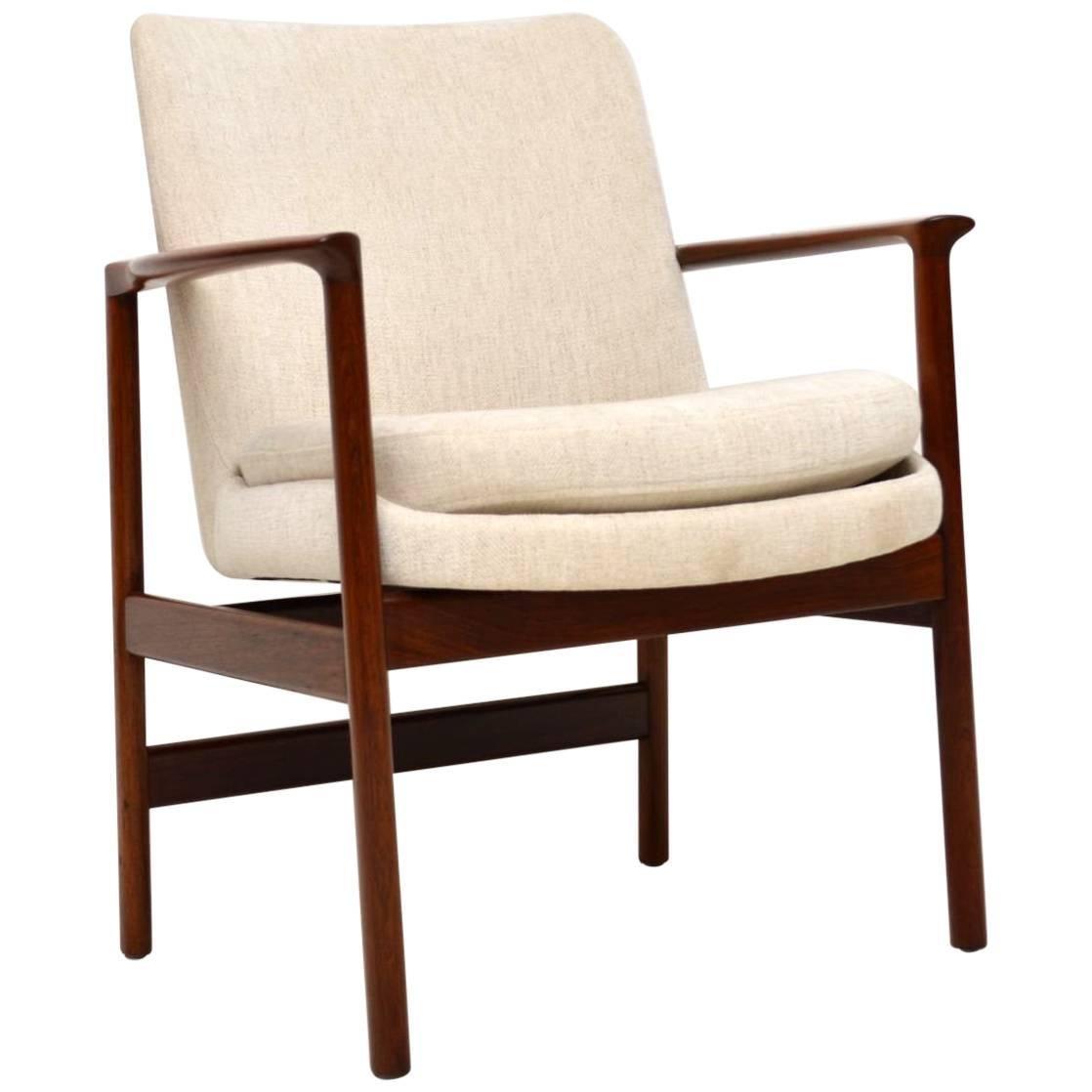 1960s Vintage Danish Armchair For Sale
