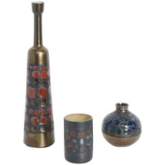 Set of Elegant Ceramic Vases by Perignem