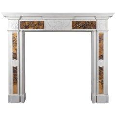Irish Georgian Sienna Marble Fireplace