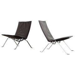 Two Poul Kjaerholm, PK22 Lounge Chair, 1986 by Fritz Hansen, Denmark