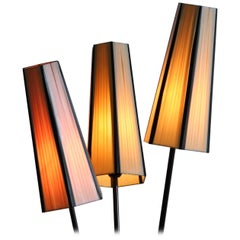 1950s, Beautiful Three-Light Swedish Floor Lamp