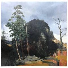 Alan Rankle Montsegur, 1988 Large Oil on Canvas