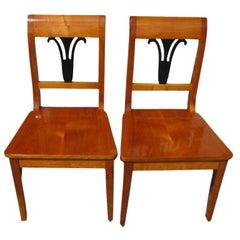 Pair of Biedermeier Style Chairs