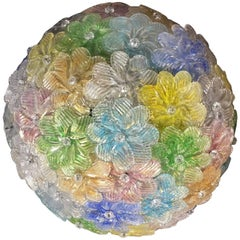 Ceiling Fixture by Barovier & Toso, Murano, 1950s