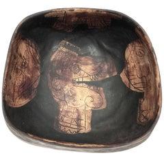 Eugene Fidler, Decorative Ceramic Bowl or Vide Poche
