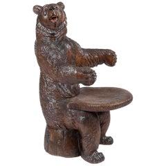 19th Century 'Black Forest' Bear Armchair
