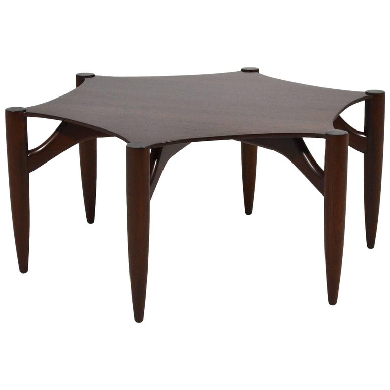 Greta Grossman Rosewood Coffee Table For Sale
