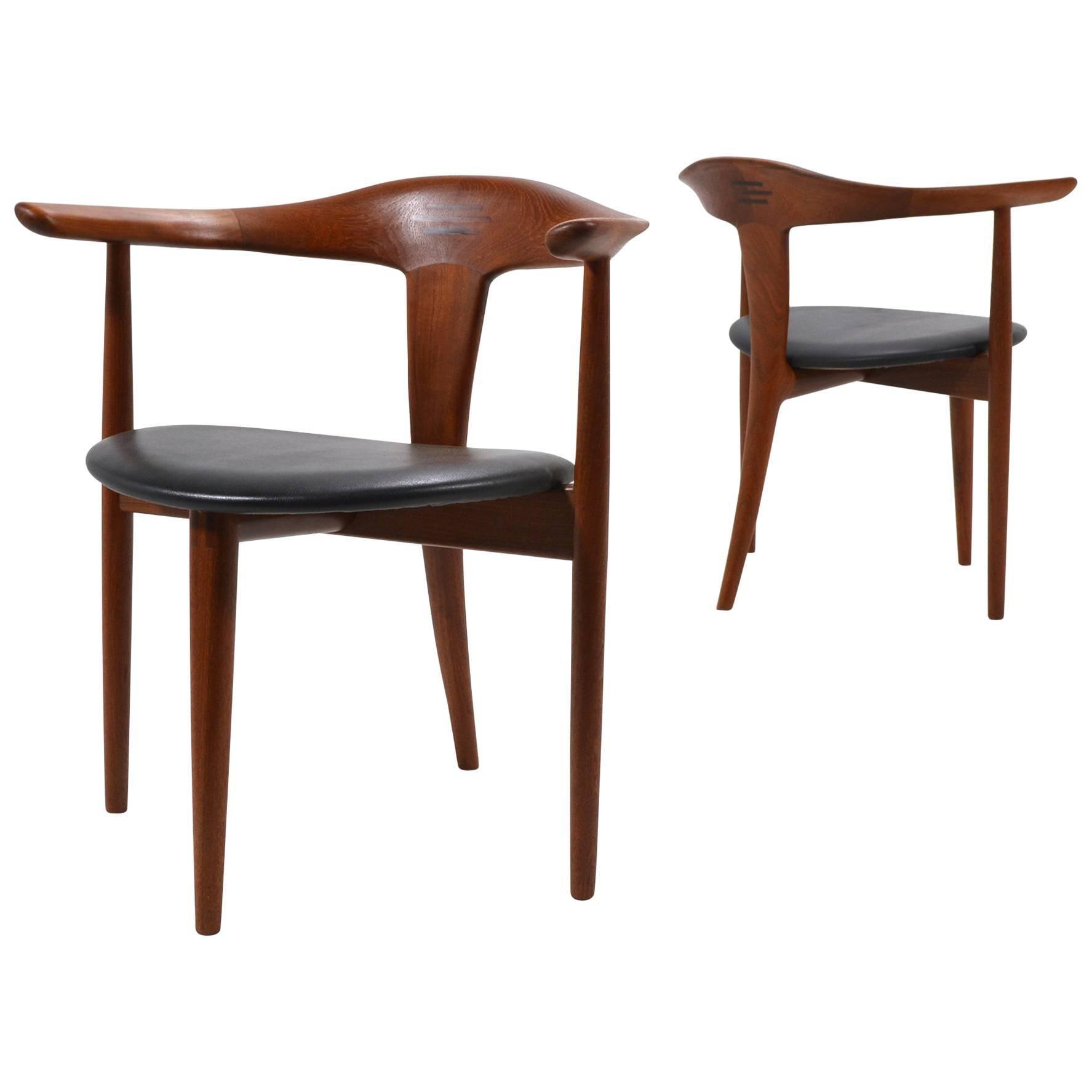 Erik Andersen and Palle Pedersen Pair of Rare Easy Chairs