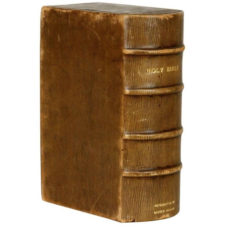 Large 1755 German Leather Bible At 1stdibs
