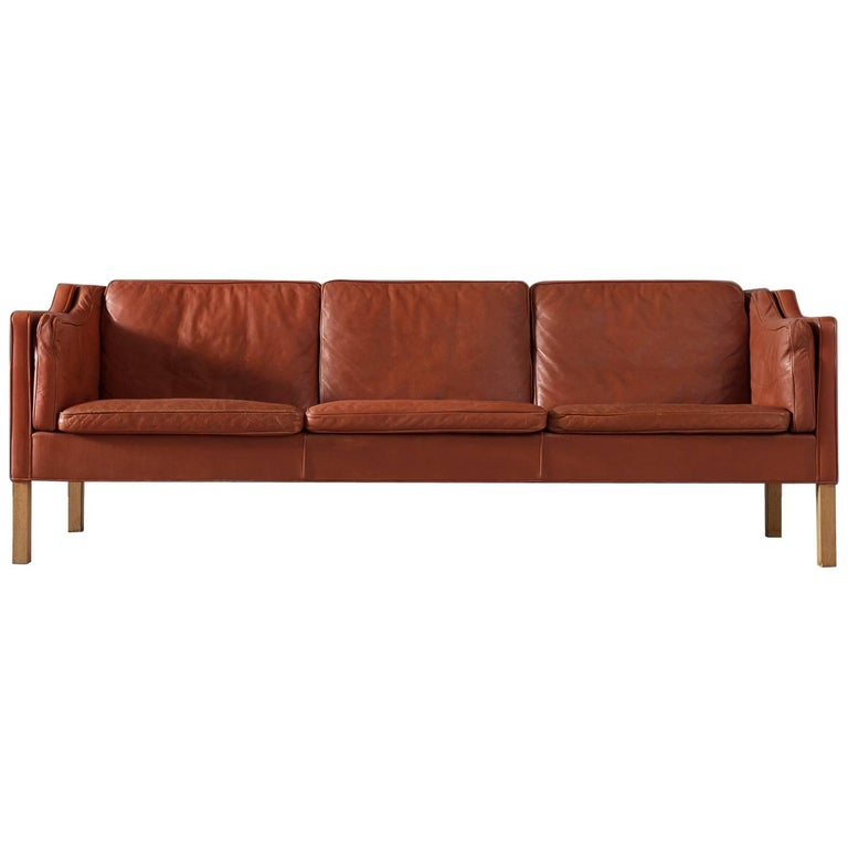 Børge Mogensen 2213 Sofa in Cognac Leather