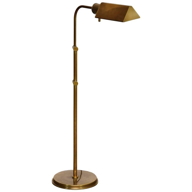 Cedric hartman style brass reading pharmacy floor lamp for sale at cedric hartman style brass reading pharmacy floor lamp for sale aloadofball
