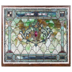 Late 19th Century Stained-Glass Window