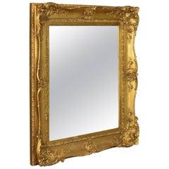 Antique Wall Mirror Gilt Gesso Frame, Overmantel, English Victorian, circa 1850