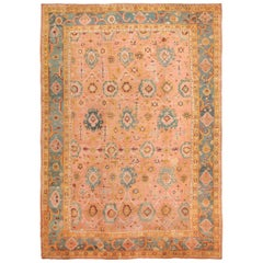 Oversized Antique Oushak Turkish Rug