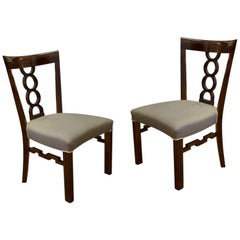 Pair of Cubist Chairs, circa 1915, Austria-Hungary