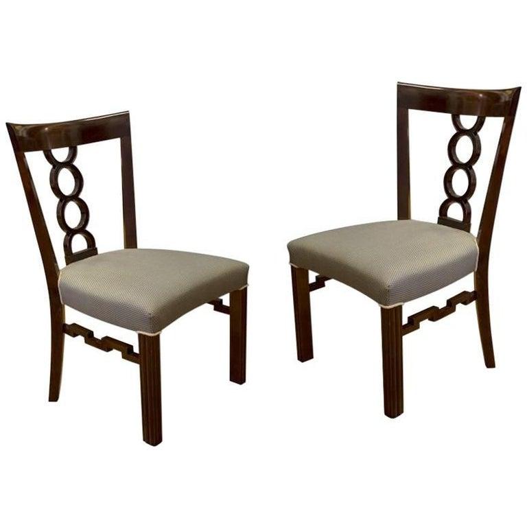 Pair of Cubist Chairs, circa 1915, Austria-Hungary