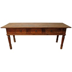 Primitive Farmhouse French Country Reclaimed Wood Console Table