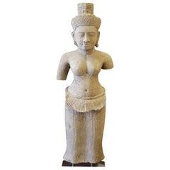 Sandstone Khmer Figure of Uma Goddess Fertility Love Deity Shakti Cambodia