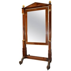 Belgian Empire Cheval Mirror