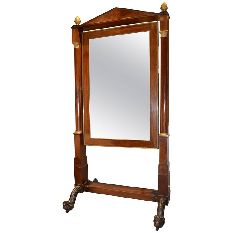 Belgian Empire Cheval Mirror