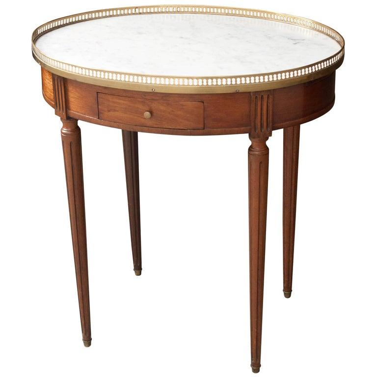 French Louis XVI Style Oval Mahogany Gueridon, 19th Century