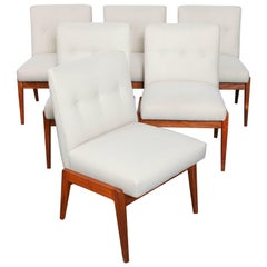 Set of Six Jens Rison Walnut Dining Chairs