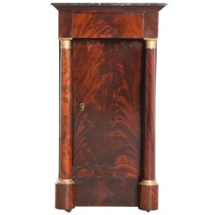 French, 1940s Mahogany Empire Bedside Table
