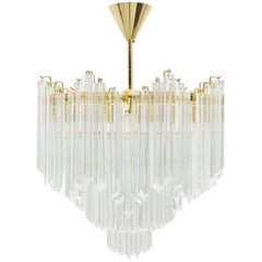 Large Murano Glass Chandelier, Italy, 1970s