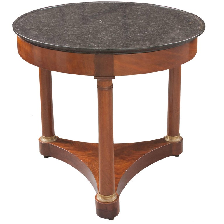 French Mahogany Empire Gueridon Table, 19th Century