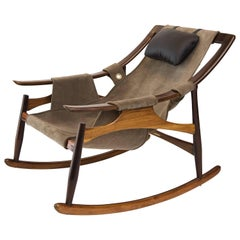 Rosewood Rocking Chair Designed by the Liceu de Artes e Ofícios in the 1960s