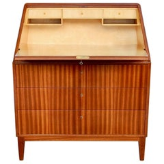 Swedish 1940s Moderne Secretary with Drawers-David Rosen for NK Stockholm, 1941